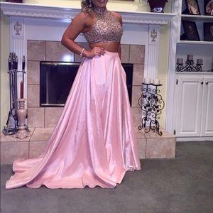 Sherri Hill 2-piece blush prom dress